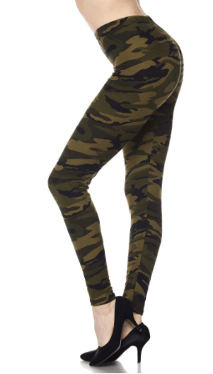 Camo Print Leggings-Regular & Plus - Sassy & Southern