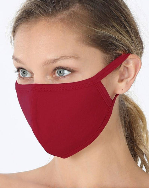 Cotton Face Mask-Solids & Patterns - Sassy & Southern