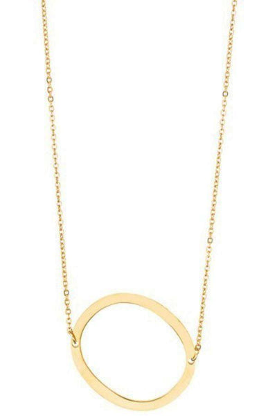 Gold Initial Pendant Necklace ${variant_title} - Sassy & Southern - necklace