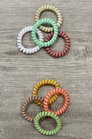 Phone Cord Hair Ties in a Matte Finish - Sassy & Southern