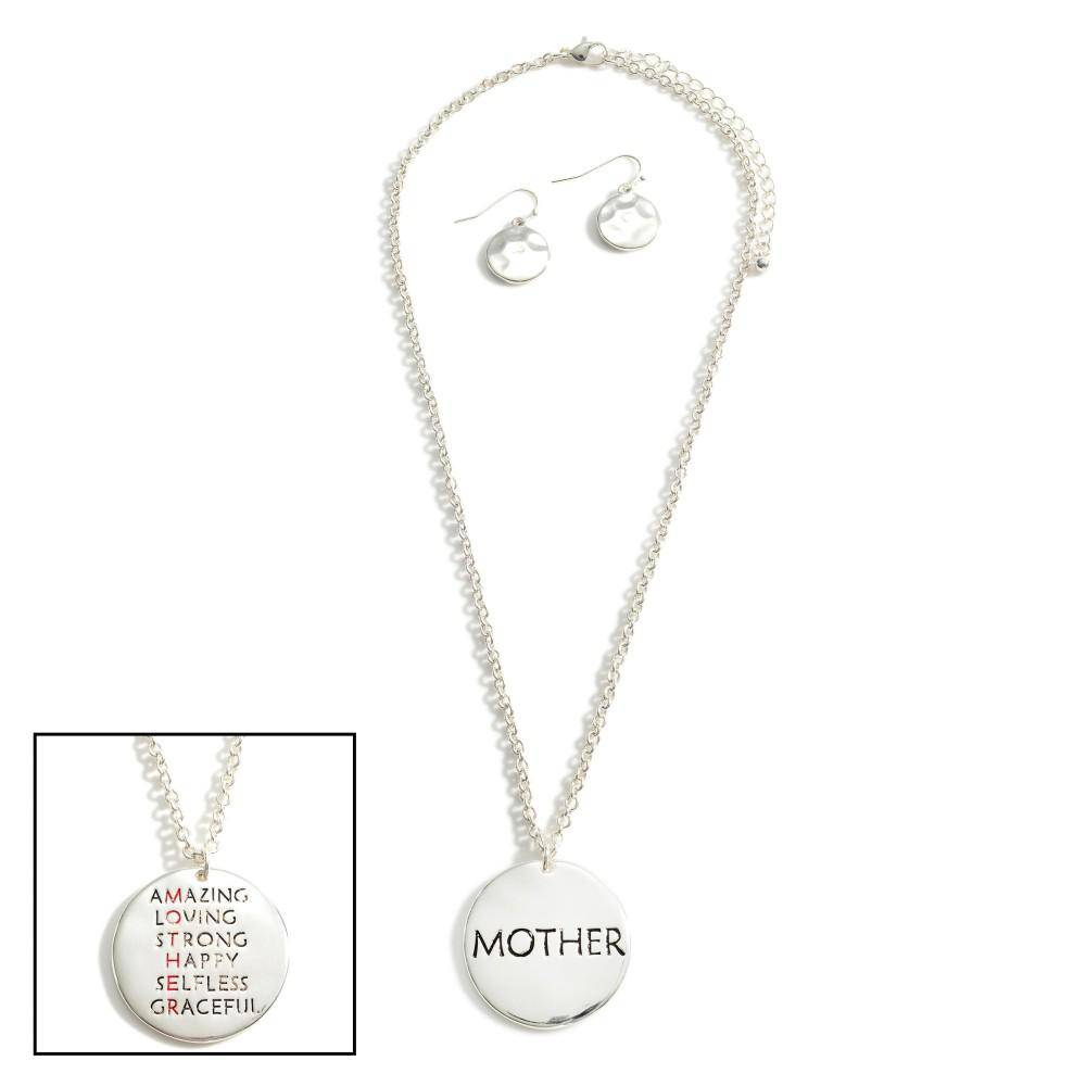 Silver Mother Pendant Necklace - Sassy & Southern