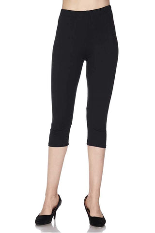 Solid Super Soft CAPRI Leggings in MULTIPLE COLORS in REGULAR & PLUS SIZES
