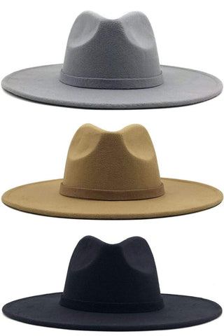 Wide Brim Hats (Black, Grey, Khaki) - Sassy & Southern