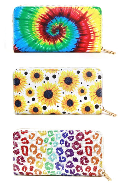 Zip Up Accordion Style Wallets-Variety - Sassy & Southern
