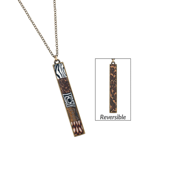Safari Vertical Bar Necklace 1