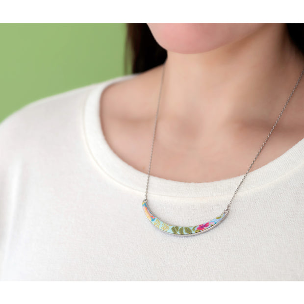 Tahiti Silver Reversible Curve Necklace 1