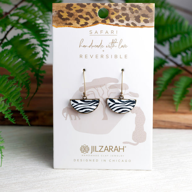 Safari Reversible Half Shell Earrings 1