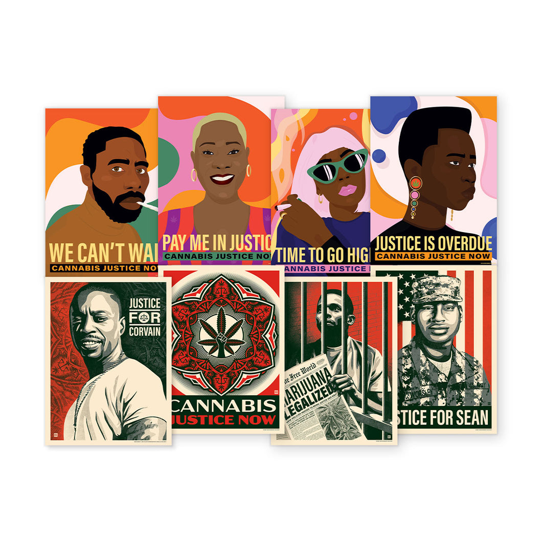 NEW! CANNABIS JUSTICE NOW POSTER PACK