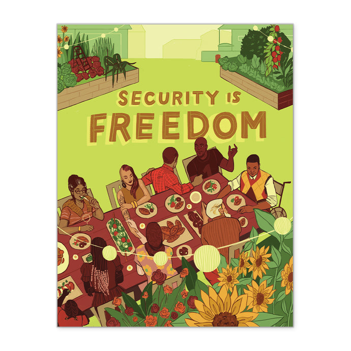 NEW! PRESALE: SECURITY IS FREEDOM FINE ART PRINT