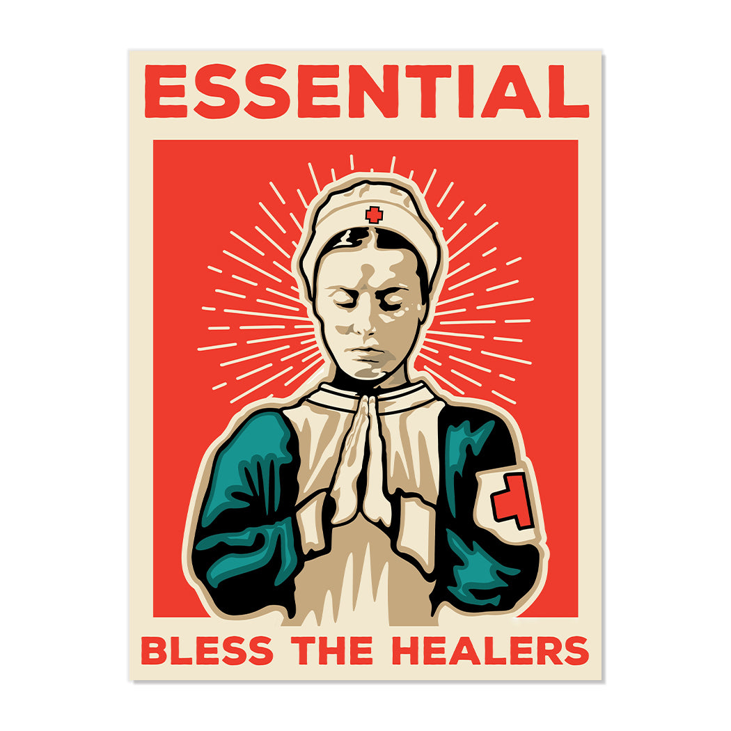ESSENTIAL BLESS THE HEALERS FINE ART PRINT