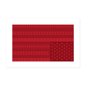SIGNED LIMITED EDITION INDIGENOUS FLAG SERIES BY GREGG DEAL