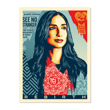 """REBIRTH"" BY SHEPARD FAIREY OPEN EDITION POSTER"