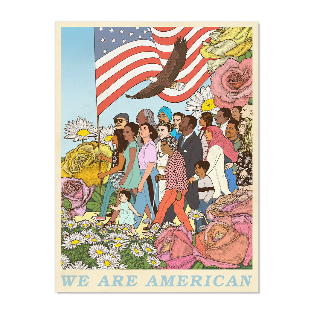 NEW! SIGNED LIMITED EDITION WE ARE AMERICAN SILKSCREEN BY CELESTE BYERS