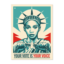 NEW! SIGNED LIMITED EDITION YOUR VOTE IS POWER SILKSCREENS BY THOMAS WIMBERLY