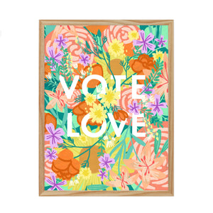 VOTE LOVE FINE ART PRINT