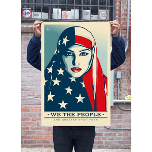 "SIGNED GREATER THAN FEAR 24x36"" OFFSET LITHOGRAPH BY SHEPARD FAIREY"