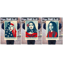 "SIGNED ALL THREE WE THE PEOPLE 24x36"" OFFSET LITHOGRAPHS BY SHEPARD FAIREY"
