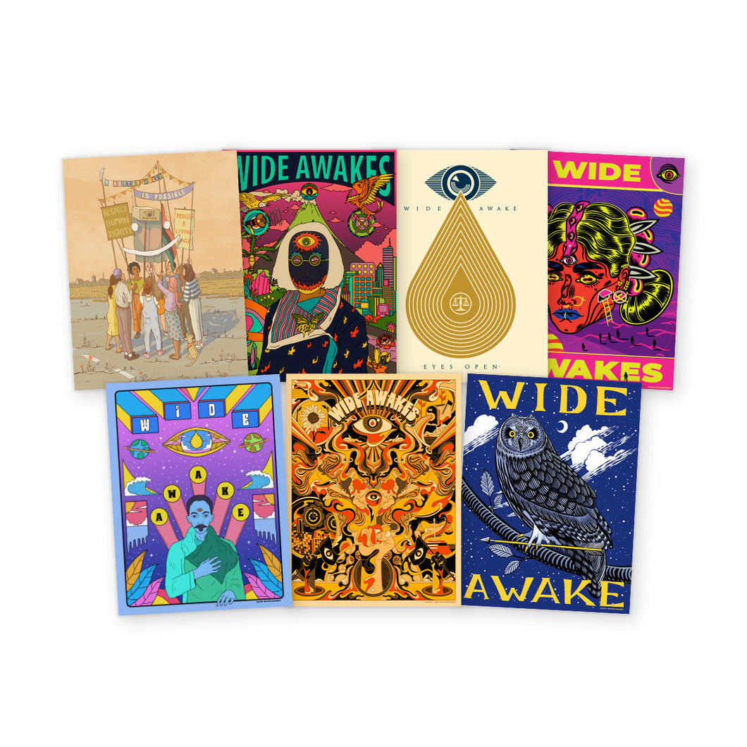 NEW! WIDE AWAKES POSTER PACK