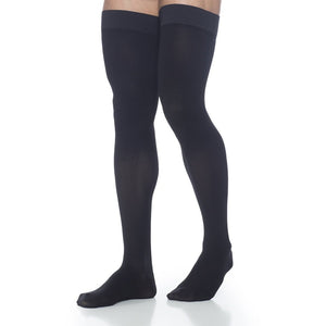 Dynaven Men's 20-30 mmHg Thigh High, Black