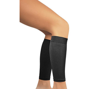 Solidea Micro Massage Compression Leg Sleeves, Black