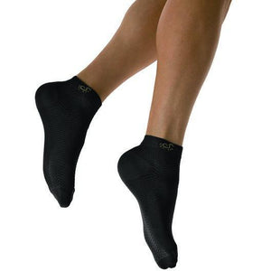 Solidea Active Power-Advanced Micro Massage Compression Ankle Socks, Black