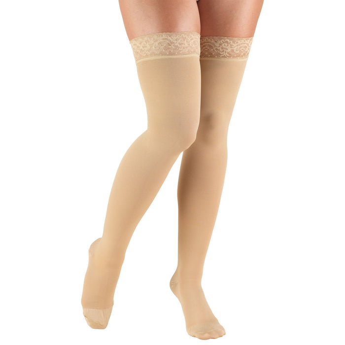 Truform 20-30 mmHg Thigh High W/ Silicone Lace Top