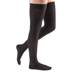 Mediven Comfort 20-30 mmHg Thigh High w/ Beaded Silicone Top Band, Ebony