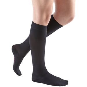 Mediven Comfort 20-30 mmHg Knee High, Extra Wide Calf, Ebony