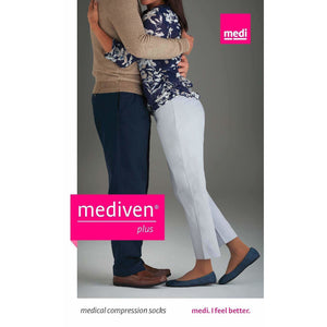 Mediven Plus 30-40 mmHg OPEN TOE Thigh High w/ Silicone Beaded Top Band