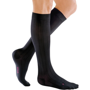 Mediven for Men Classic 20-30 mmHg Knee High, Extra Wide Calf, Black