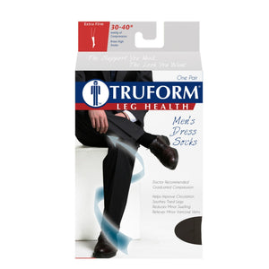 Truform Men's Dress 30-40 mmHg Knee High