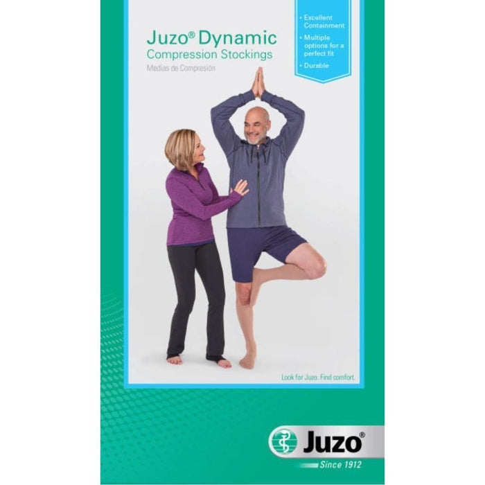 Juzo Dynamic Max 20-30 mmHg OPEN TOE Knee High w/ 5 cm Silicone Top