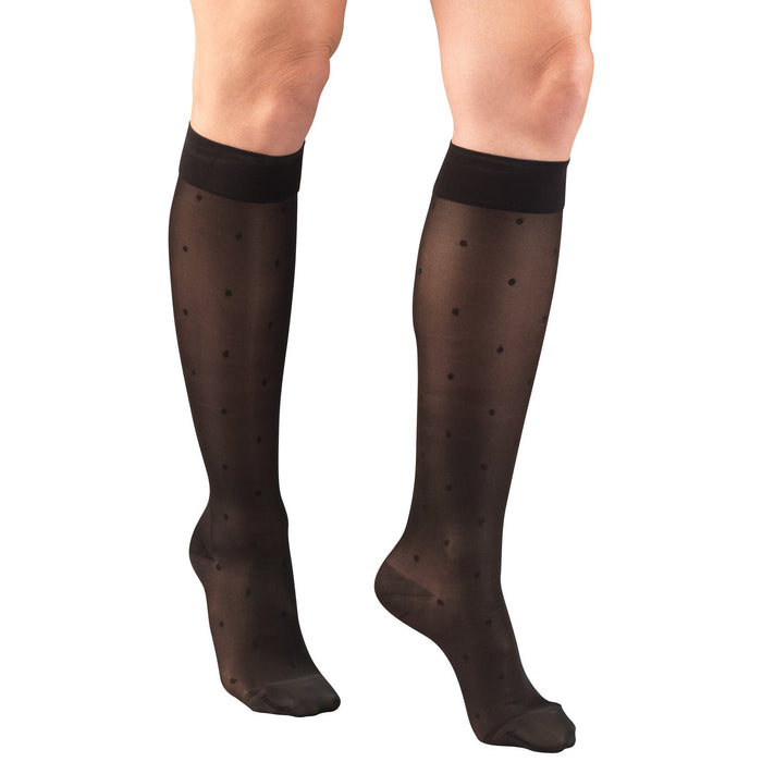 Truform Lites Women's 15-20 mmHg Dot Knee High