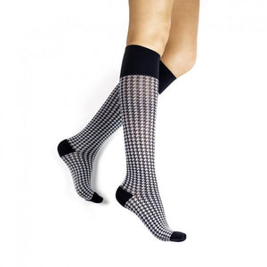 Rejuva Houndstooth 15-20 mmHg Compression Socks