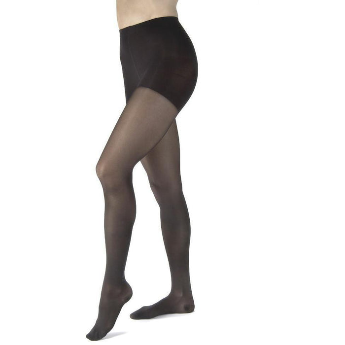Jobst UltraSheer Women's 15-20 mmHg Diamond Waist High w/ Silicone Dotted Top Band