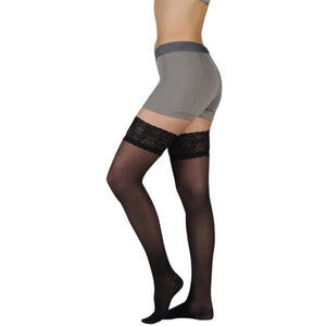 Juzo Women's Naturally Sheer 20-30 mmHg Thigh High w/ Silicone Top Band