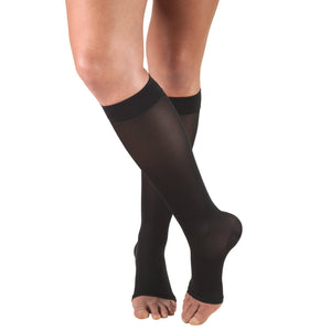 Truform Opaque Women's 15-20 mmHg OPEN-TOE Knee High
