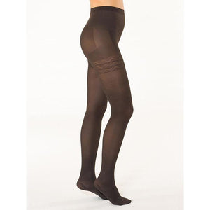 Solidea Wonder Model 140-Opaque Support Pantyhose 18-21 mmHg, Black