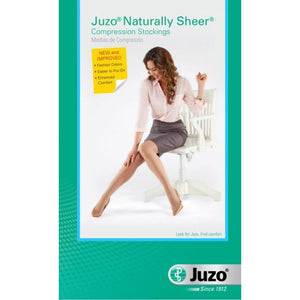 Juzo Women's Naturally Sheer 20-30 mmHg OPEN TOE Pantyhose
