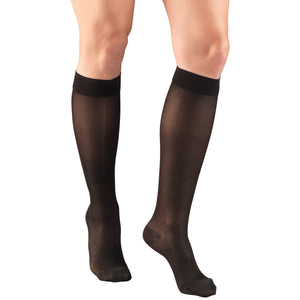 Truform Lites Women's 15-20 mmHg Diamond Knee High