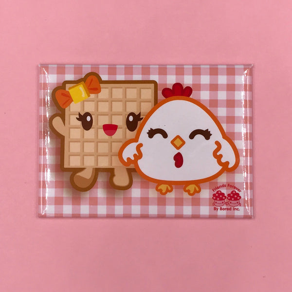 Bored Inc. Chicken & Waffle Fridge Magnet