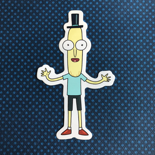 Rick and Morty Sticker- Mr. Poopybutthole