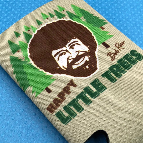 Bob Ross Happy Little Trees Can Cooler
