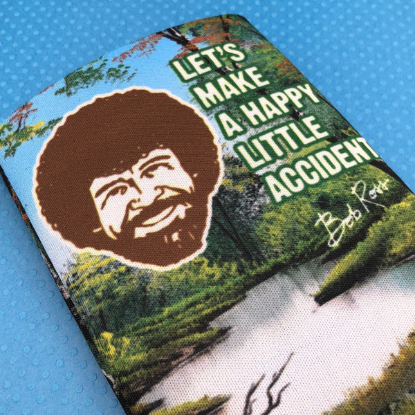 Bob Ross Let's Make a Happy Little Accident Can Cooler