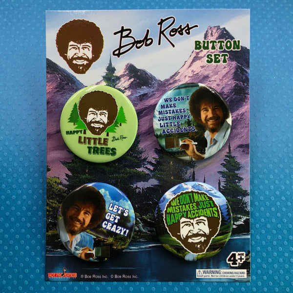 Bob Ross Button Pack