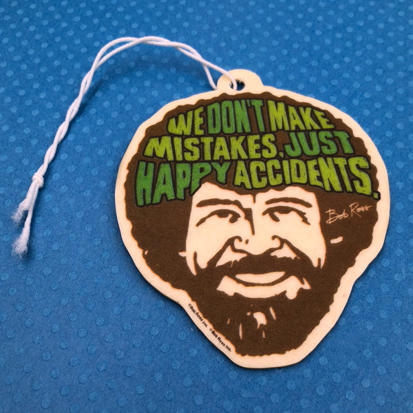Bob Ross Air Freshener- We Don't Make Mistakes