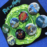 Rick and Morty 8 piece button pack