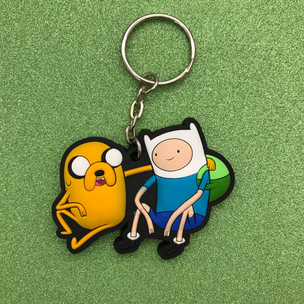 Adventure Time Finn & Jake Rubber Keychain