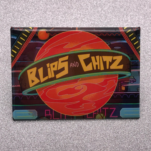 Rick and Morty Blips and Chitz Fridge Magnet