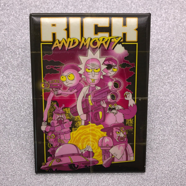 Rick and Morty Poster Fridge Magnet